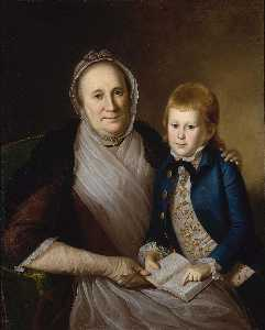 Charles Willson Peale - mme james Forgeron  et  petitfils