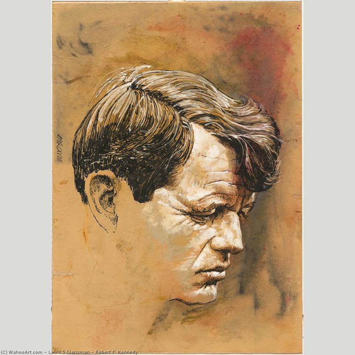 robert f . Kennedy, aquarelle de Louis S Glanzman