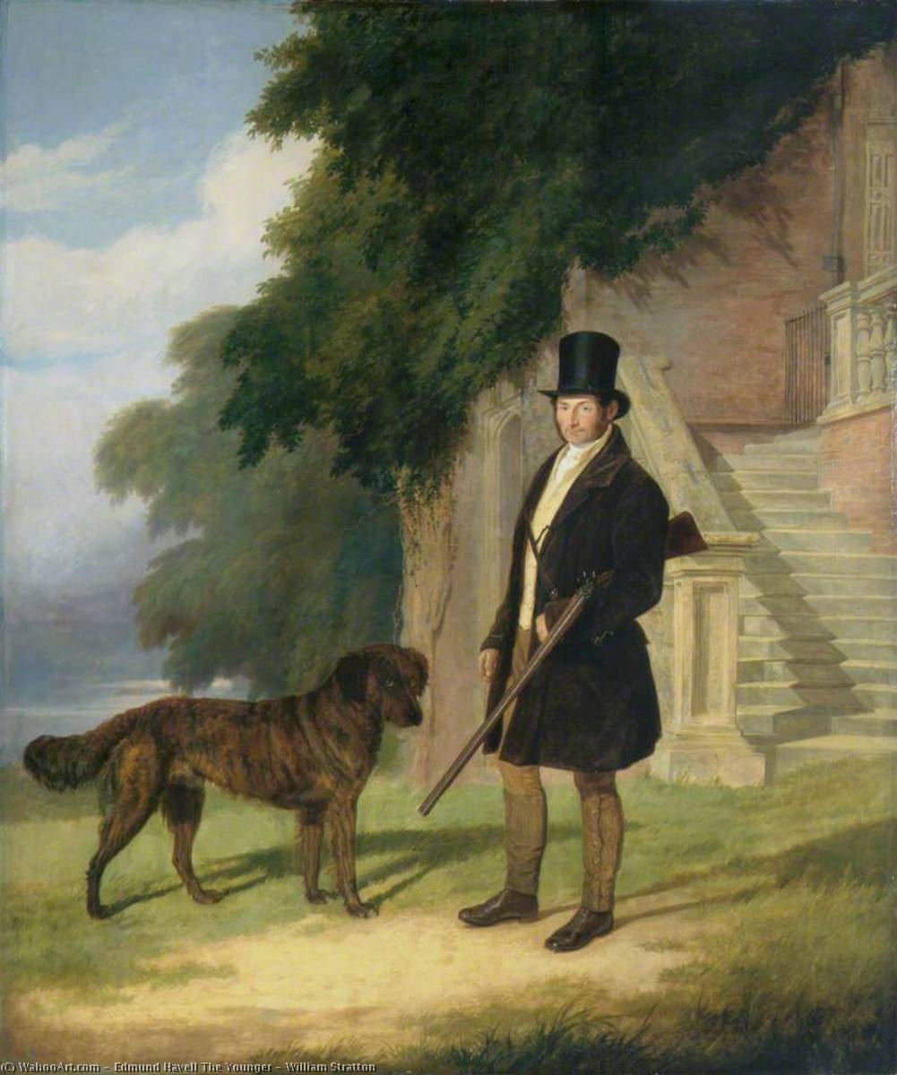 william stratton, huile sur toile de Edmund Havell The Younger