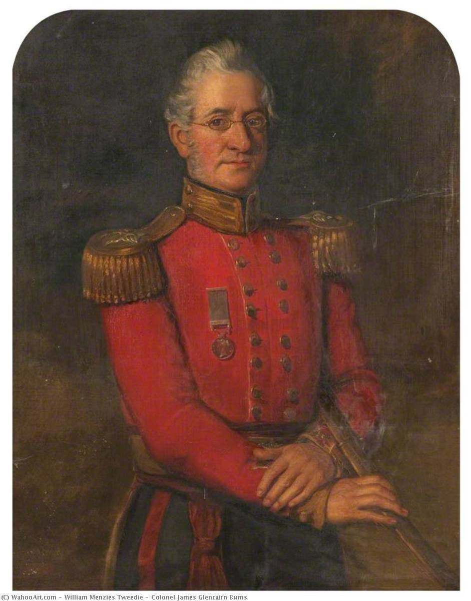 colonel james glencairn Brûle les de William Menzies Tweedie | WahooArt.com
