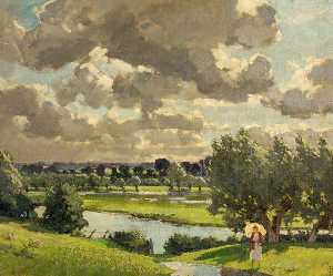 Edward James Buttar - Cricklade Paysage , Wiltshire