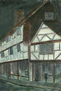 Frederick Smallman Tew - old godalming au clair de lune
