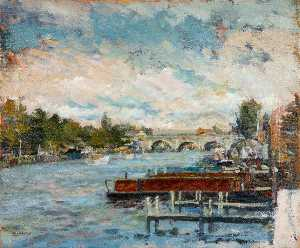 Christopher Glanville - new moorings au Kingston , Surrey