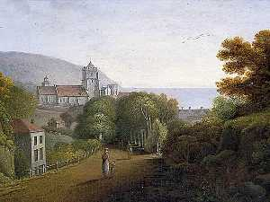 Agostino Aglio - Entrée de Hastings , east sussex , de londres Route