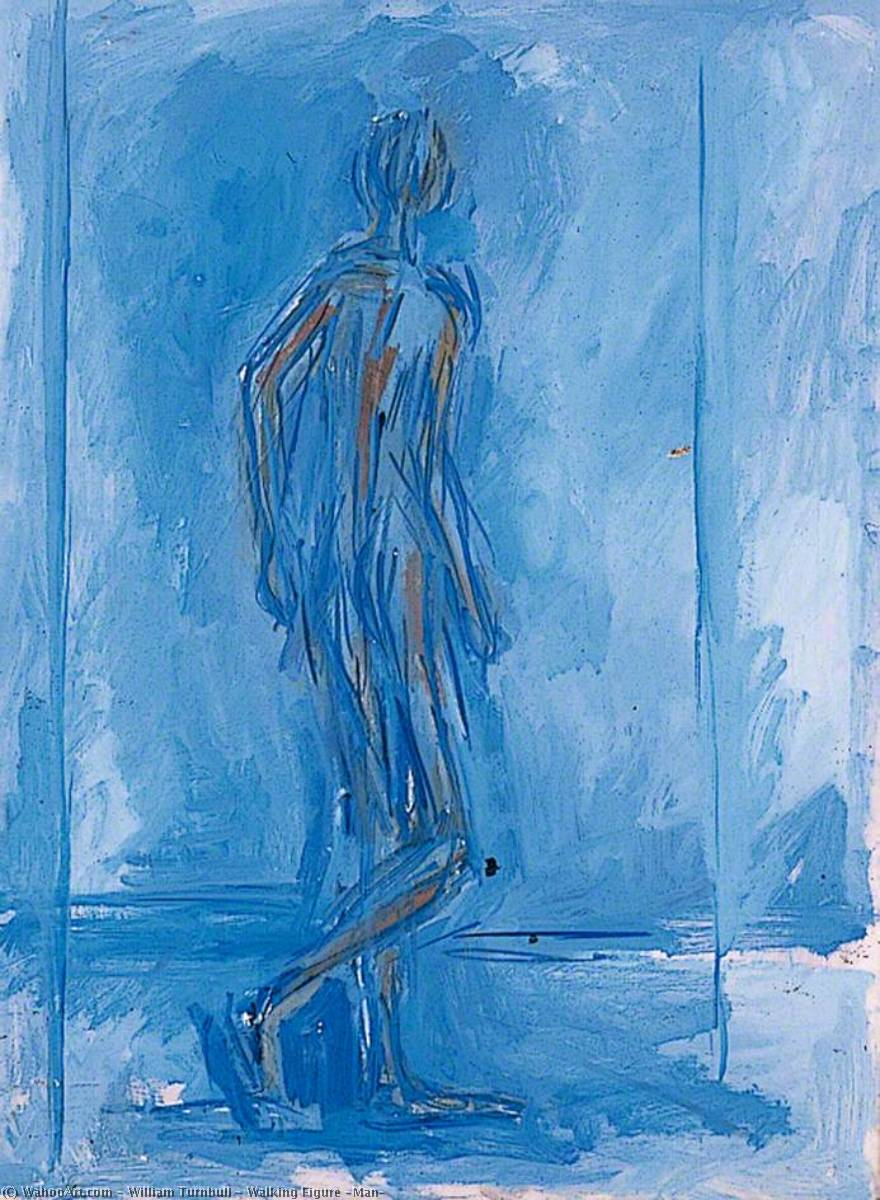 promenade la figure Homme , 1950 de William Turnbull (1922-2012, Scotland) | Reproductions D'art Sur Toile | WahooArt.com