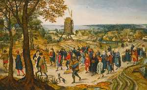 Pieter Brueghel The Younger - Une procession de mariage