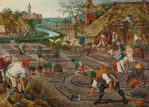 Pieter Brueghel The Younger - Printanière