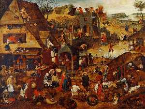 Pieter Brueghel The Younger - Proverbes flamands