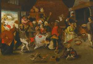 Pieter Brueghel The Younger - fête de Épiphanie