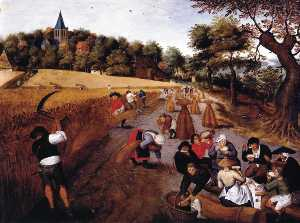 Pieter Brueghel The Younger - La Moisson