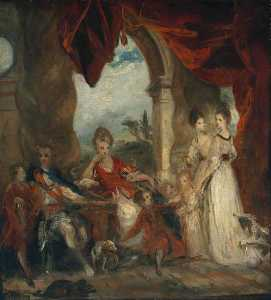 Joshua Reynolds - Croquis pour 'The 4th Duc de Marlborough et sa Family'