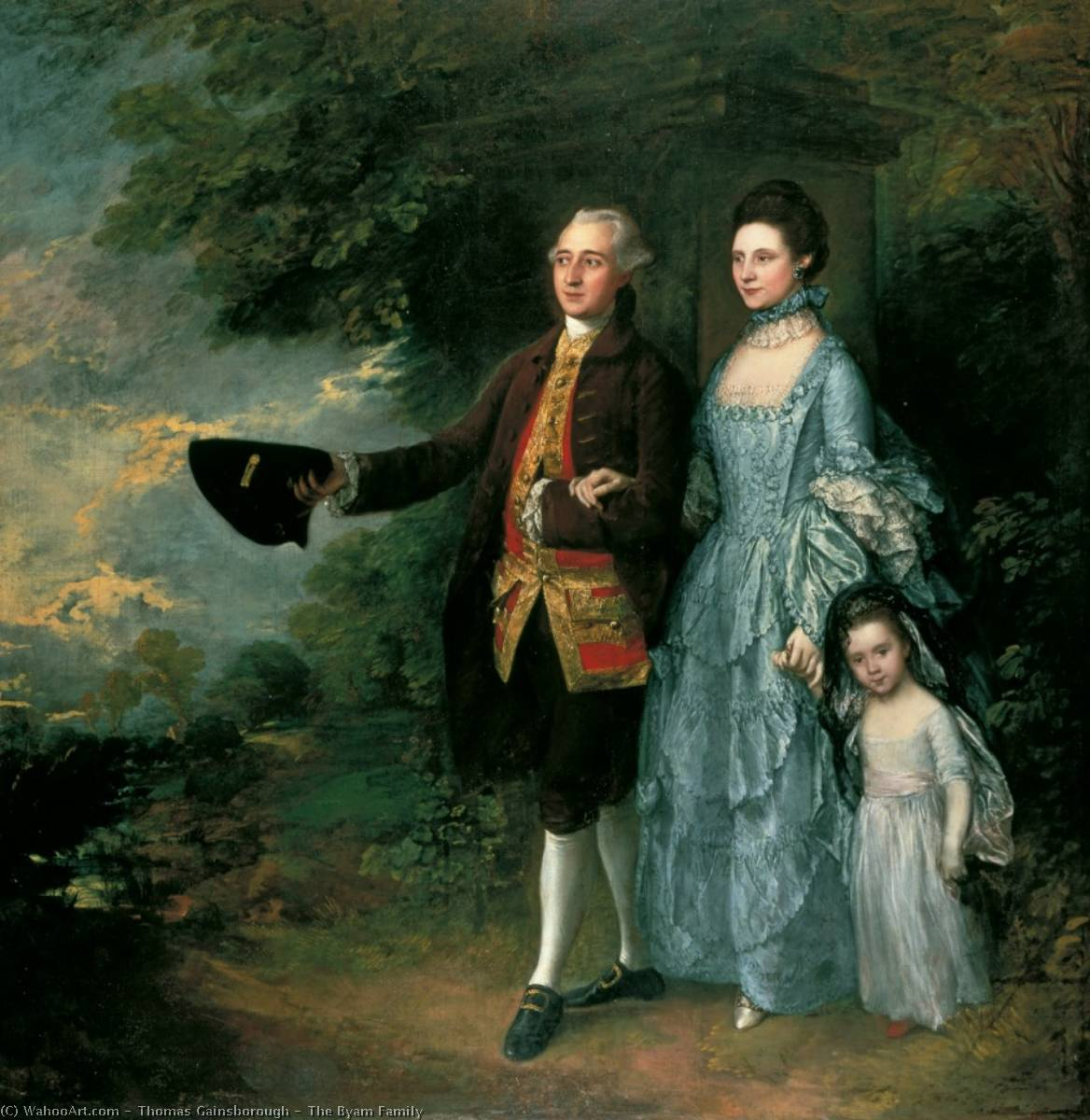 the byam Famille, 1766 de Thomas Gainsborough (1727-1788, United Kingdom) | Copie Tableau | WahooArt.com