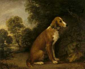 Thomas Gainsborough - Une Setter idans un paysage