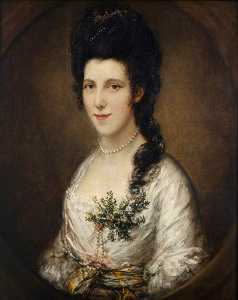 Thomas Gainsborough - Portrait d une dame éventuellement  demoiselle noble  eden