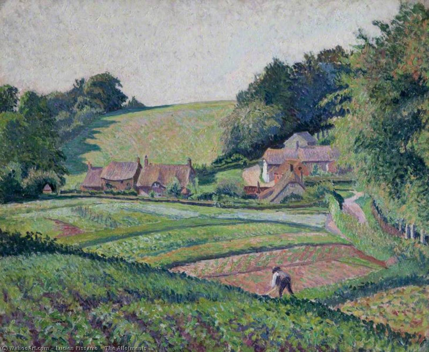 les allotments, 1917 de Lucien Pissarro (1830-1944) | Reproduction Peinture | WahooArt.com