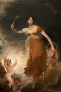 Thomas Lawrence - giorgiana maria leicester , lady de tabley que 'Hope'