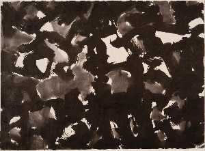 Mark Tobey - noir blanc