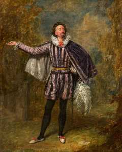 Henry Andrews - william pleater davidge comme malvolio dans 'Twelfth Night' par william shakespeare
