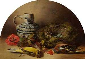 William Duffield - nature morte avec Nid d oiseau