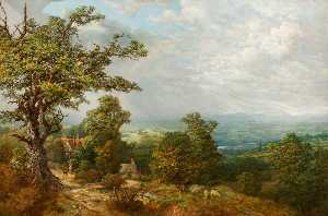 Thomas Prytherch - Vue d Chorlton Colline , Shropshire